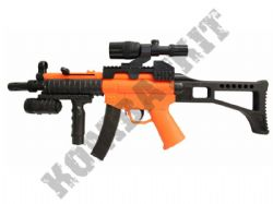 HY017B BB Gun MP5 Style Spring Airsoft Rifle 2 Tone Orange Black